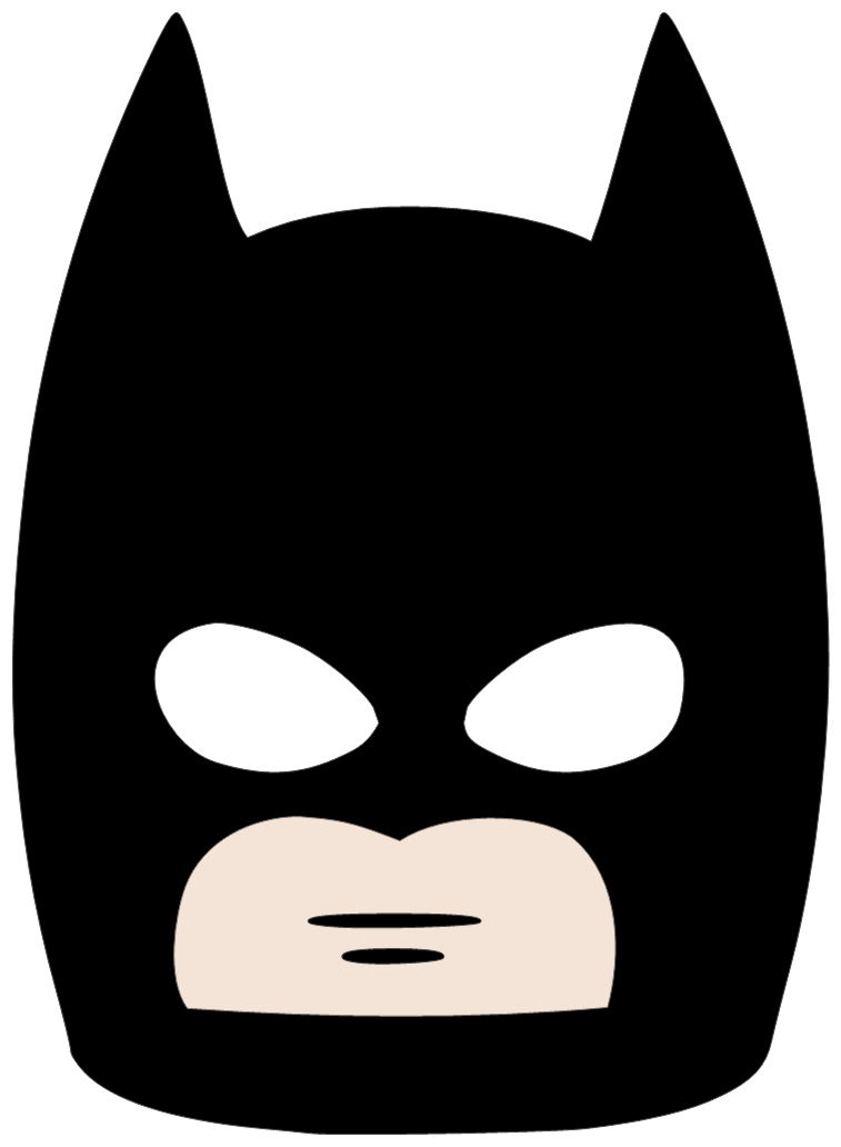 Cartoon batman mask png 38919 free icons and png for Batman face mask template