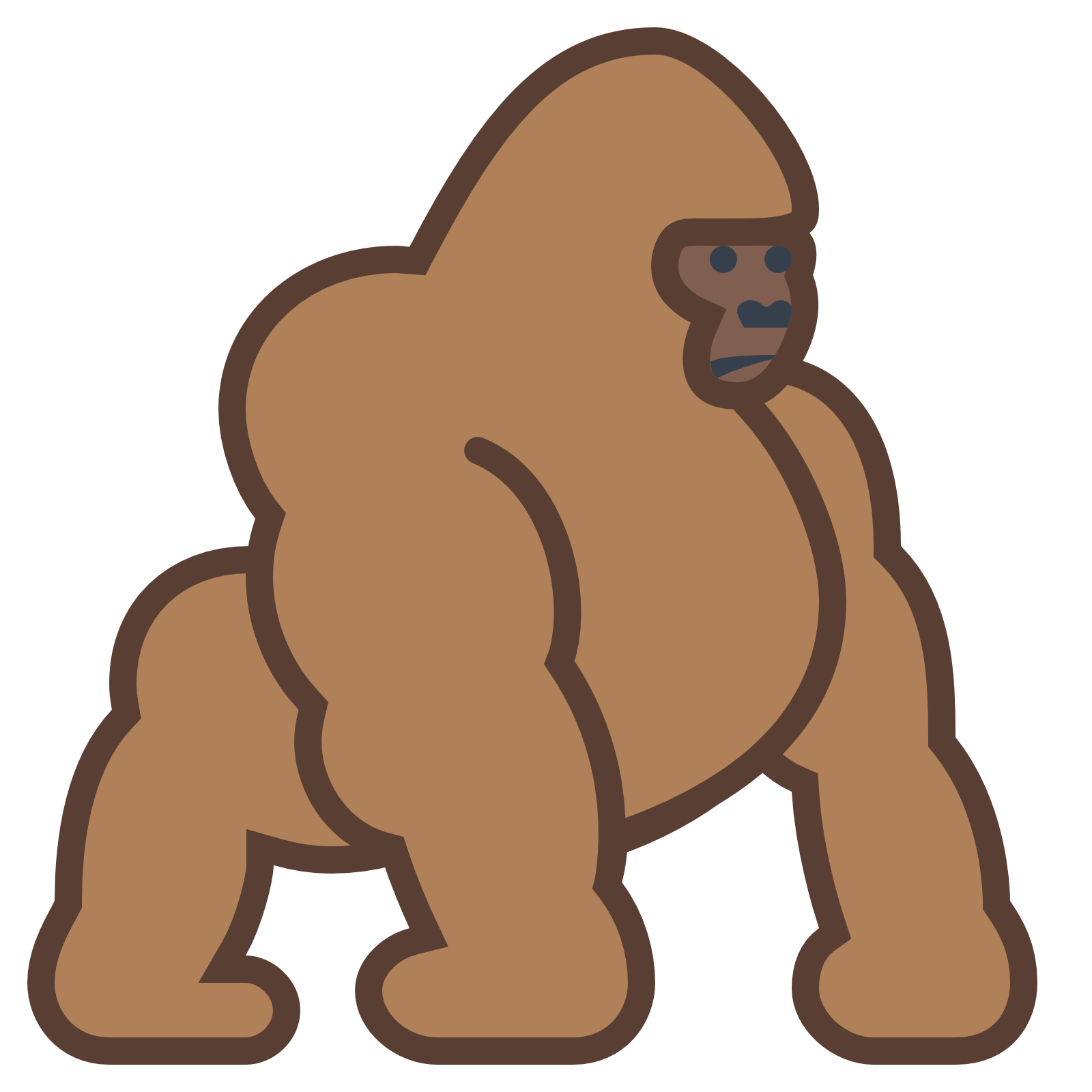 cartoon gorilla png