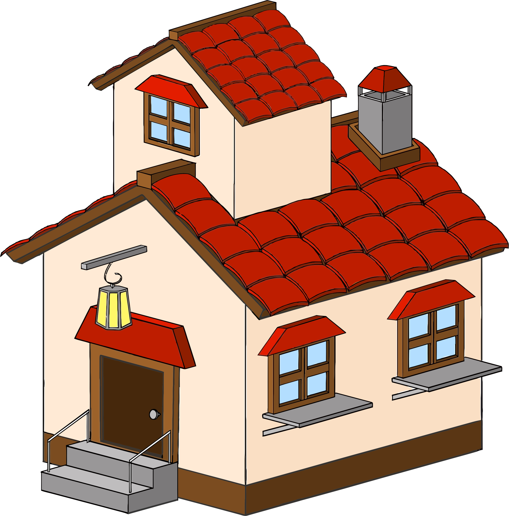 Cartoon Haunted House ClipArt Picture image #45382