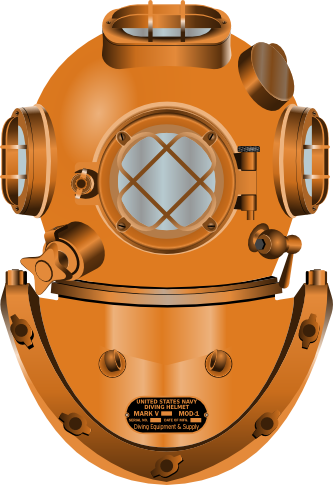 Casco Palombaro Diving Helmet png