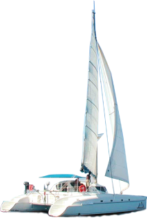 Catamaran blue png