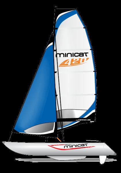 Catamaran blue png