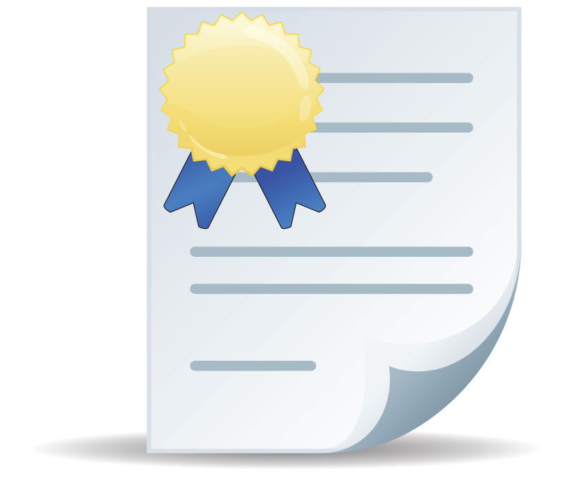 Icon Certificate Vector