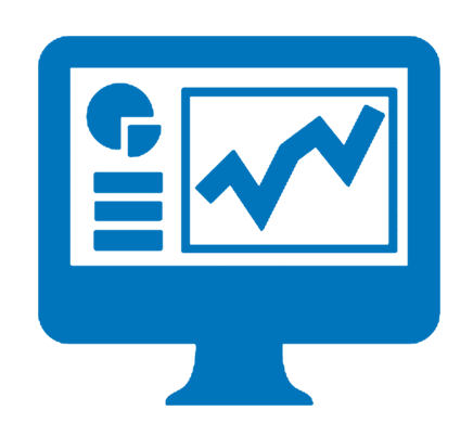 Chart, Grawth, Blue, Monitoring, Report, Screen, Statistics Icon image #40164