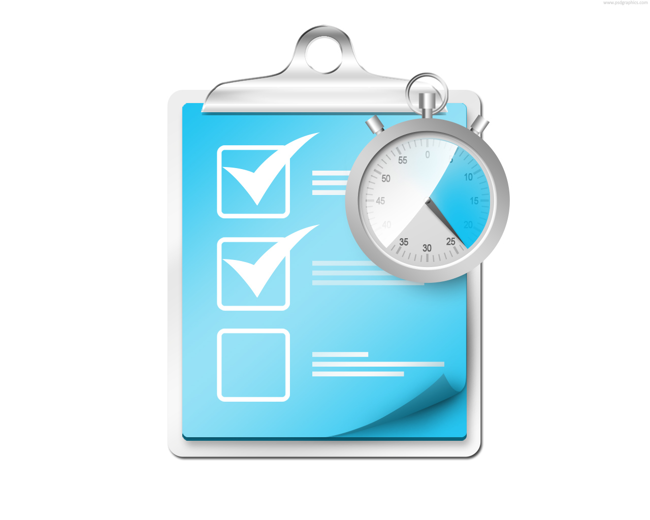 Check List Icon Checklist With Stopwatch Icon image #1436