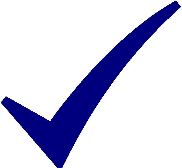 check mark blue clip art icon