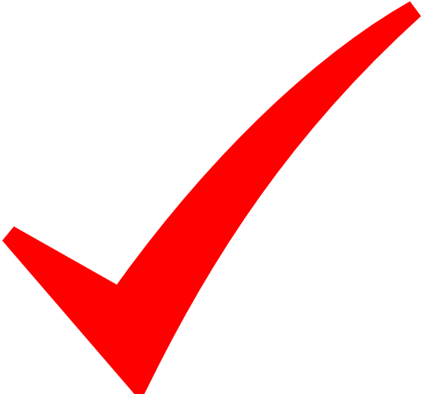 check mark clip art at red