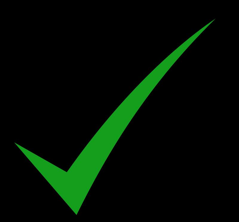 check mark green black icon