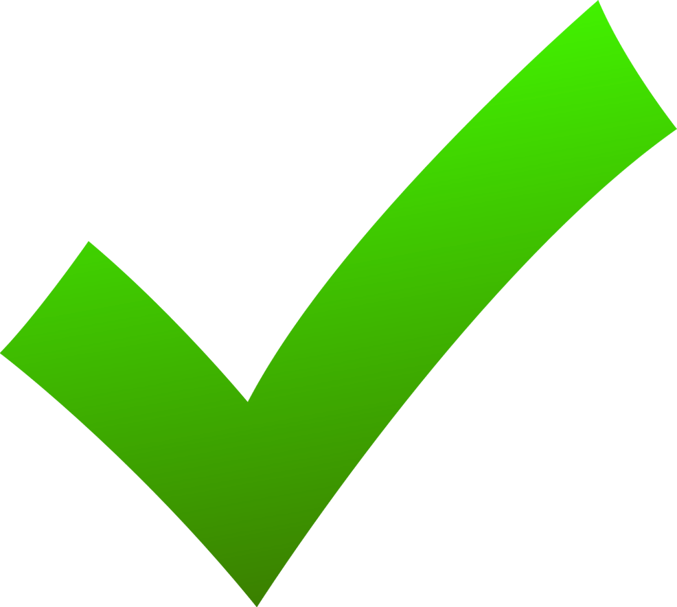 Check Mark Icon Green image #45000