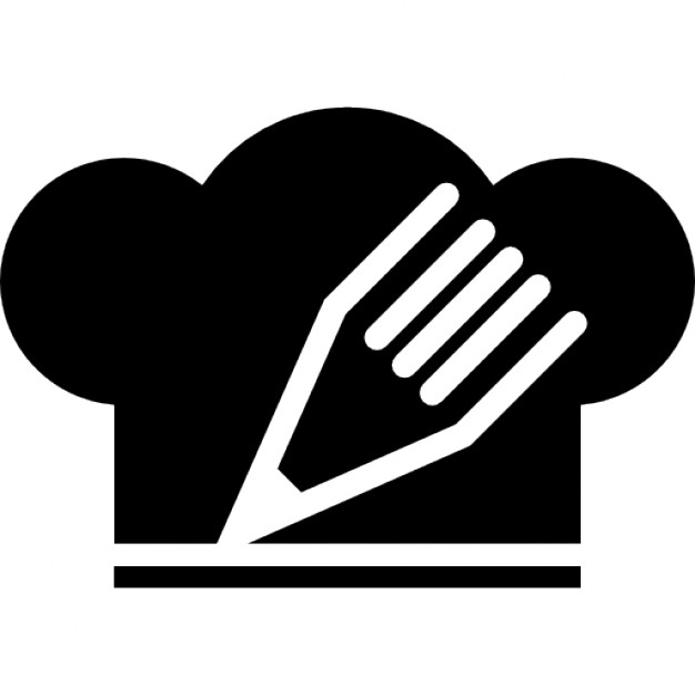 Chef Hat With A Pencil Icon image #13723