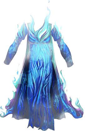 Chest blue fire png