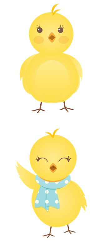 Vector Drawing Chicks image #20966