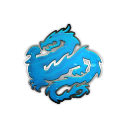 Chinese Blue Dragon Icon image #35550