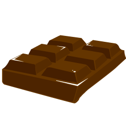 Chocolate Bar, Food, Sweet, Valentine, Chocolate Block Icon image #36420