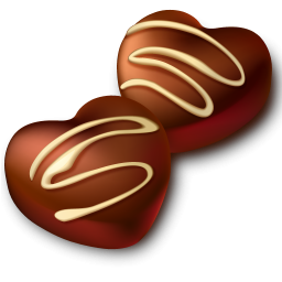 chocolate heart png