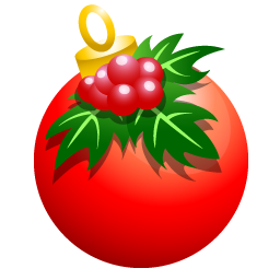 Christmas ball icon png