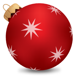Christmas Ball Red Icon