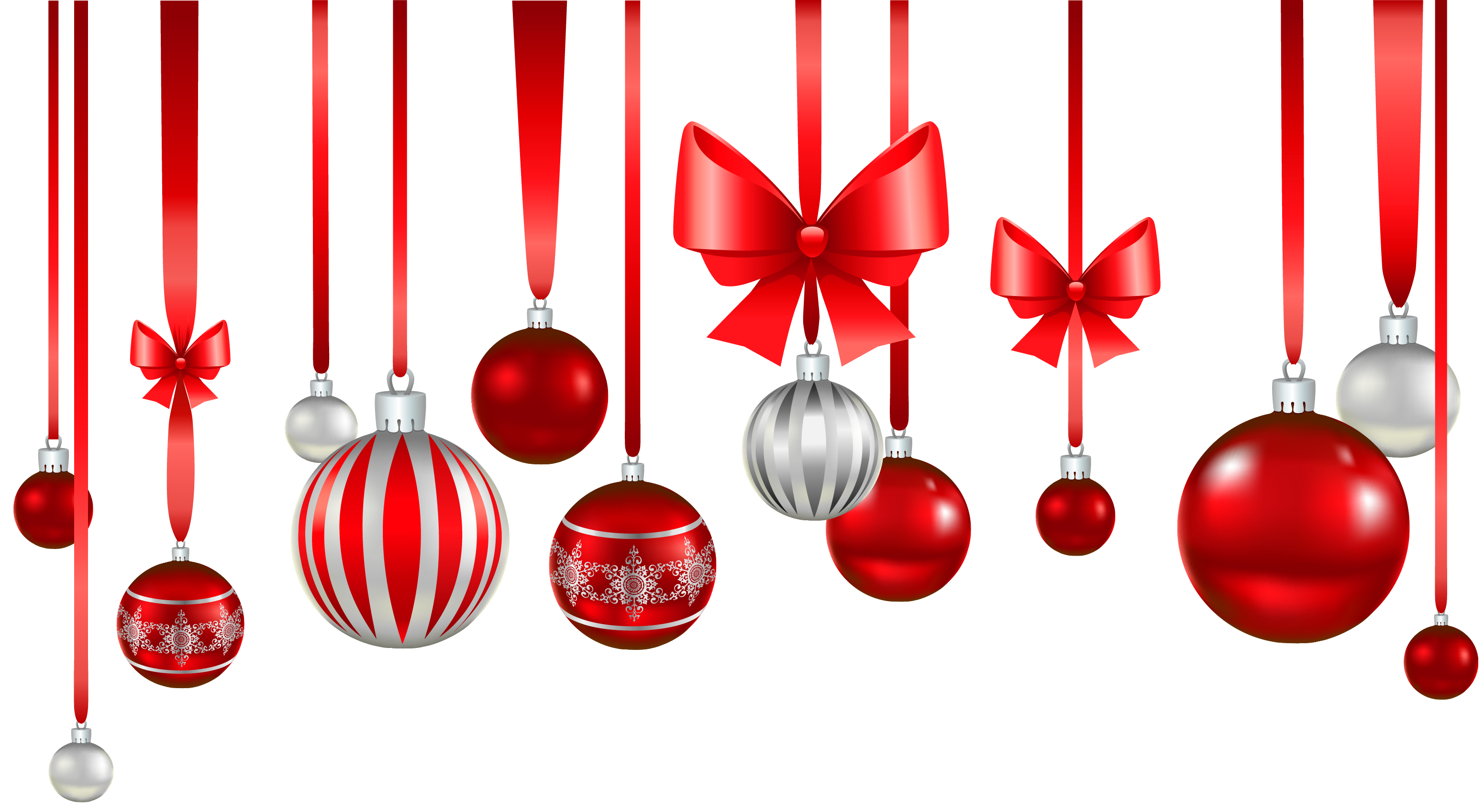 Christmas Balls And Ribbons Png Images image #47085