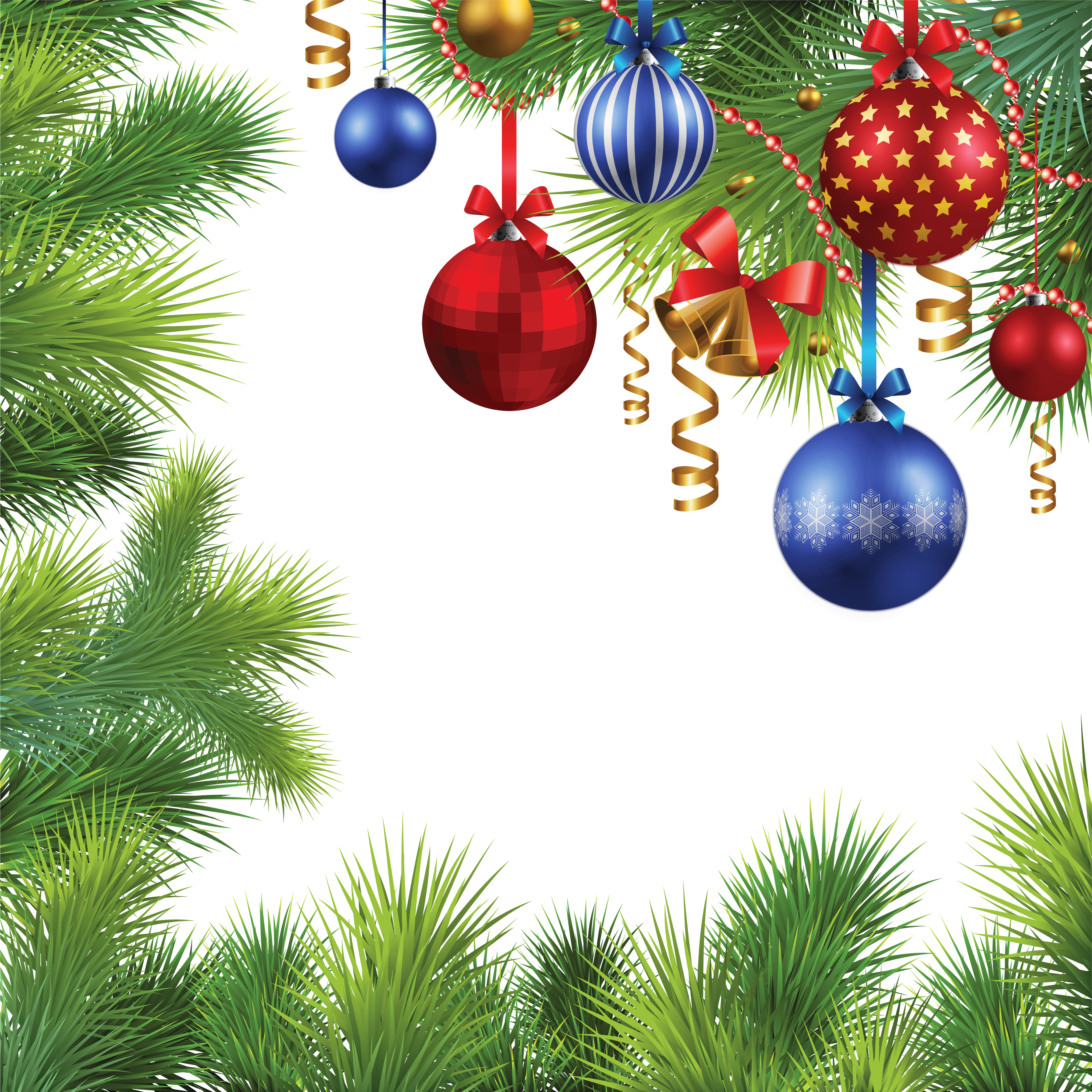 Christmas balls, tree frame png #35312 - Free Icons and PNG Backgrounds