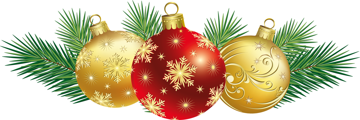 christmas balls with decor png