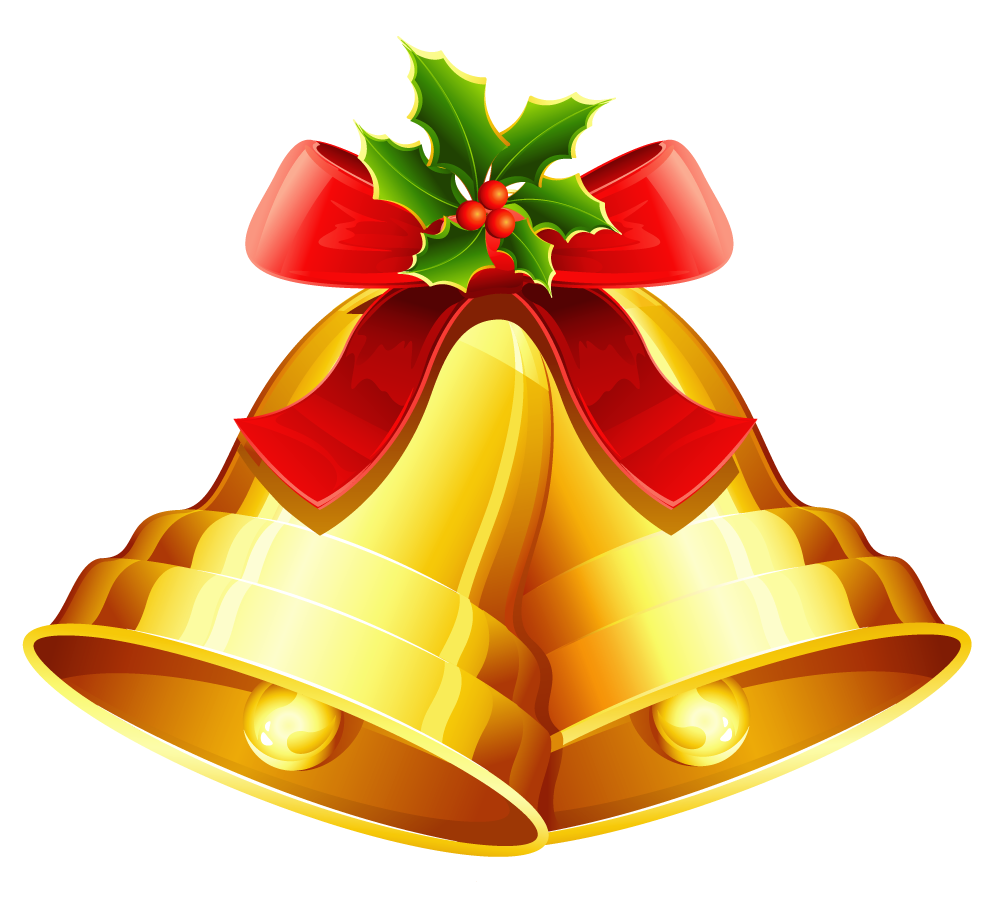 Christmas bell png clipart image 30833