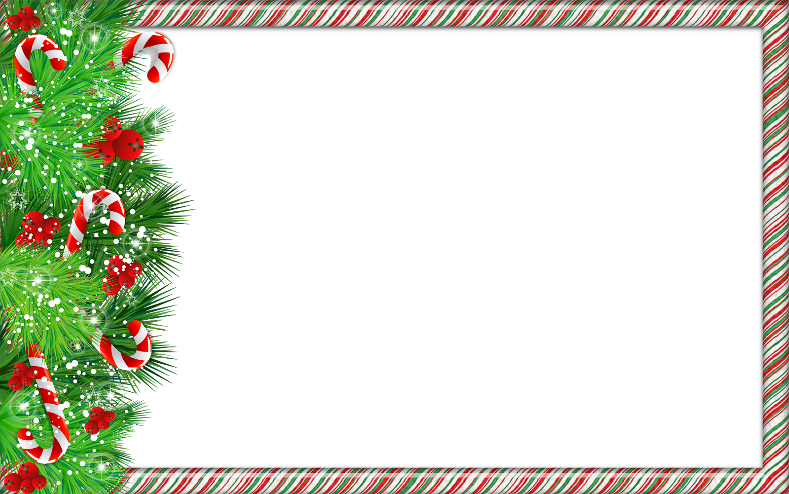 Christmas Frame Ornaments, Photo Frame PNG HD