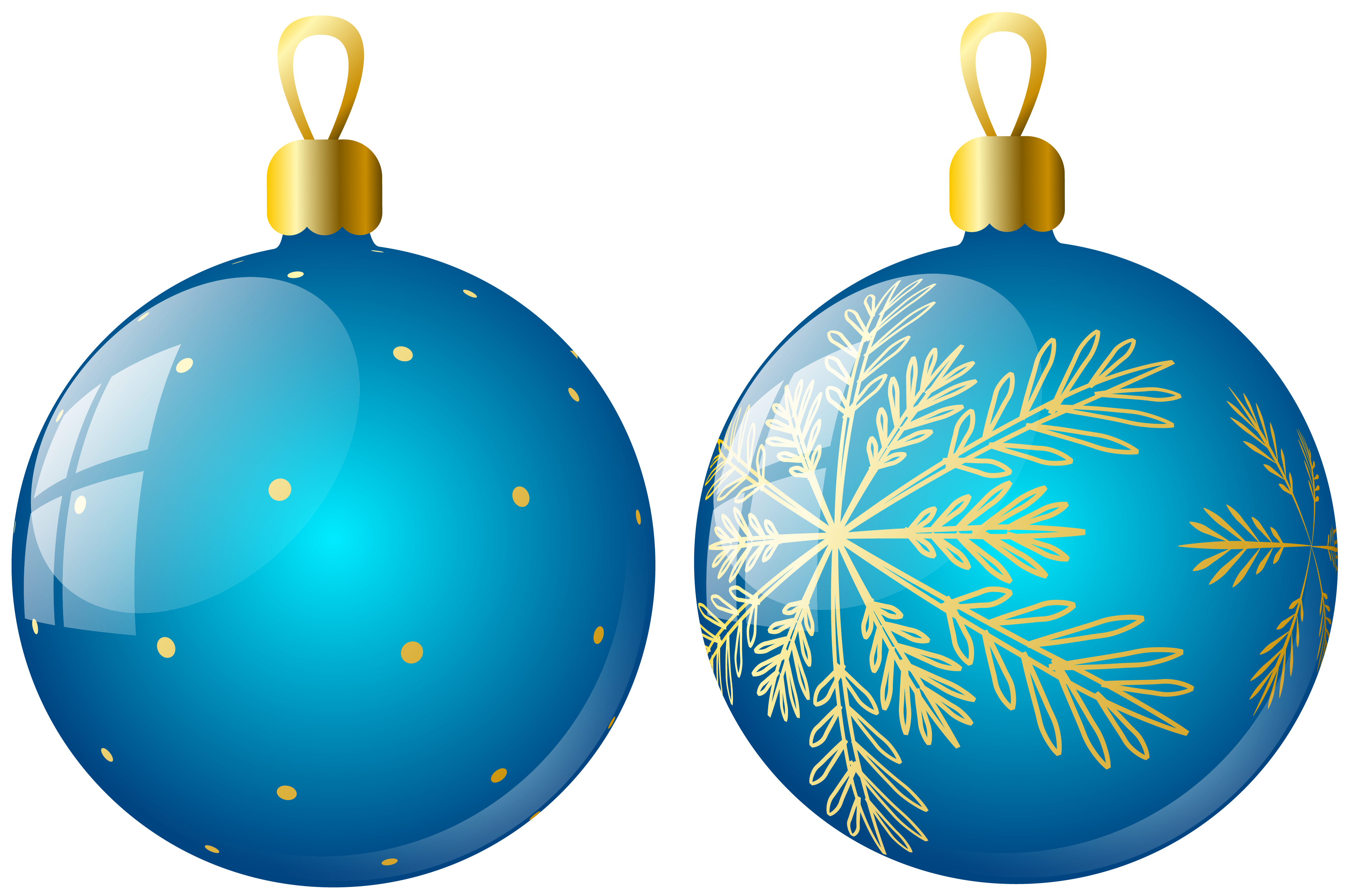 Christmas Ornaments Two Blue Ball Png image #46366