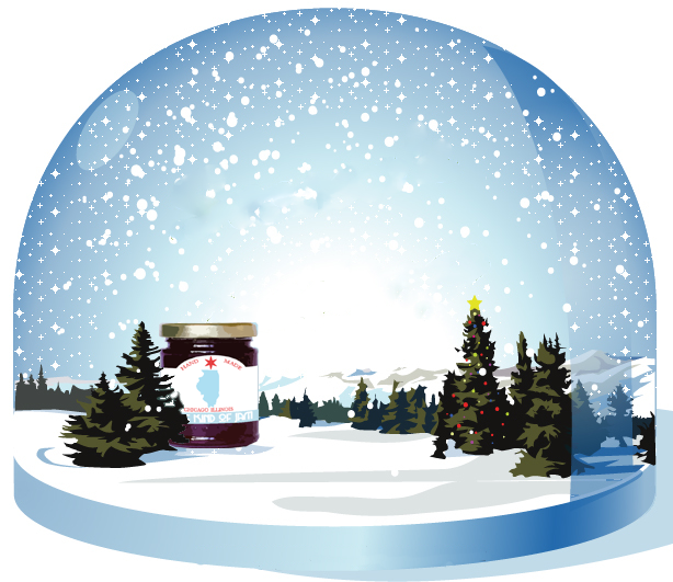 Christmas snow globe png