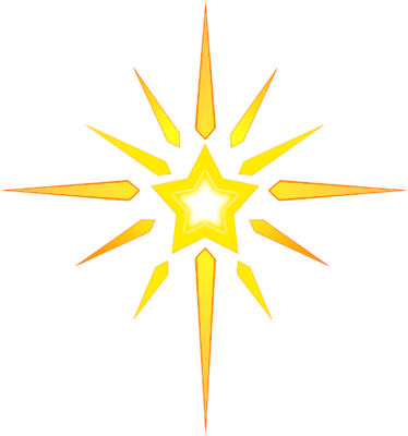 christmas star png clipart