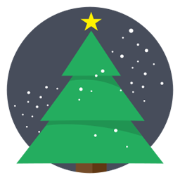 Vector Icon Christmas Tree