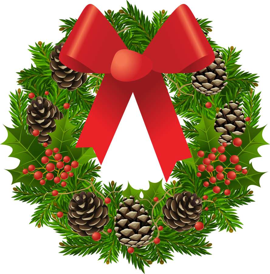 Christmas Wreath Transparent Png Pictures Free Icons And Png