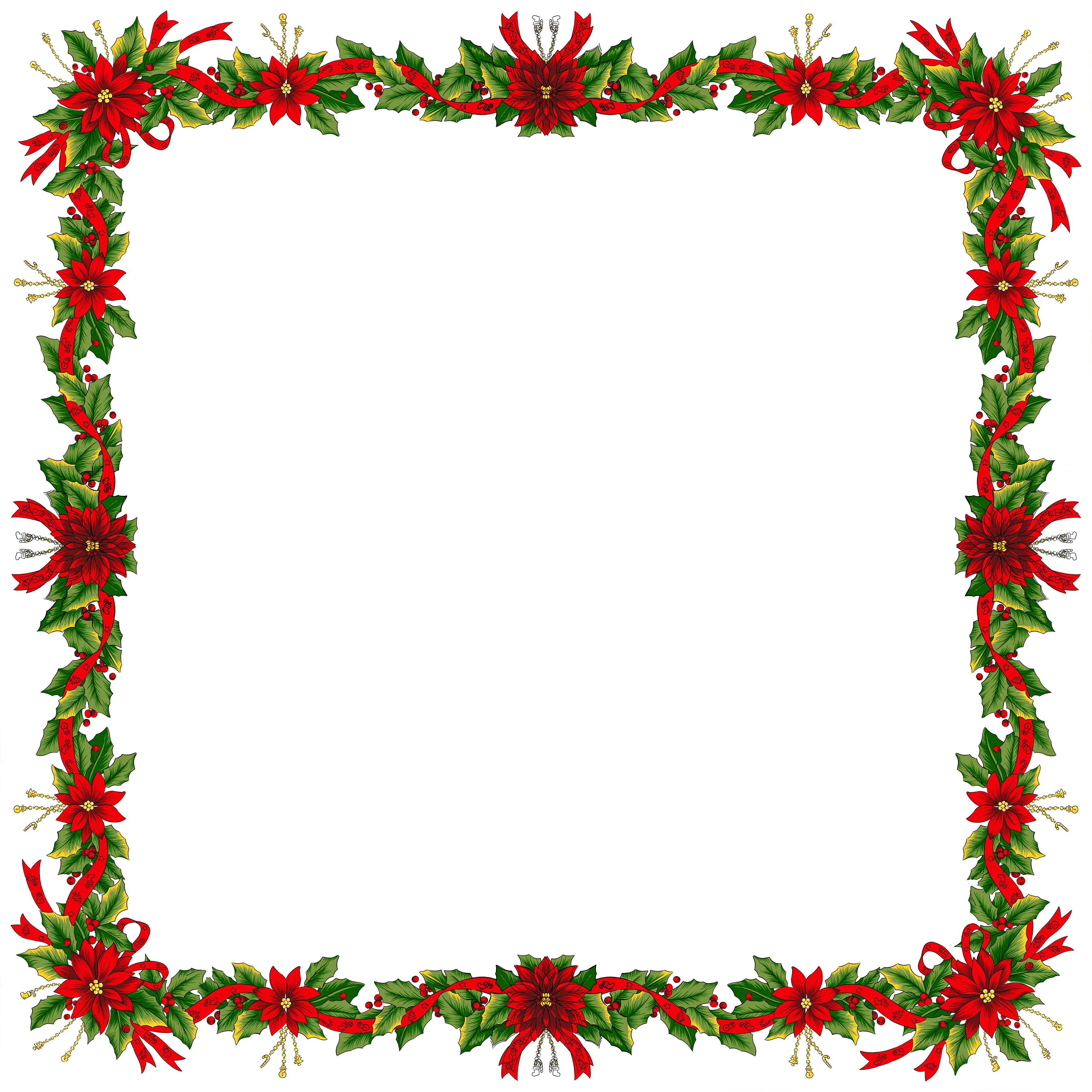 Christmas Wreath Frame Png Images