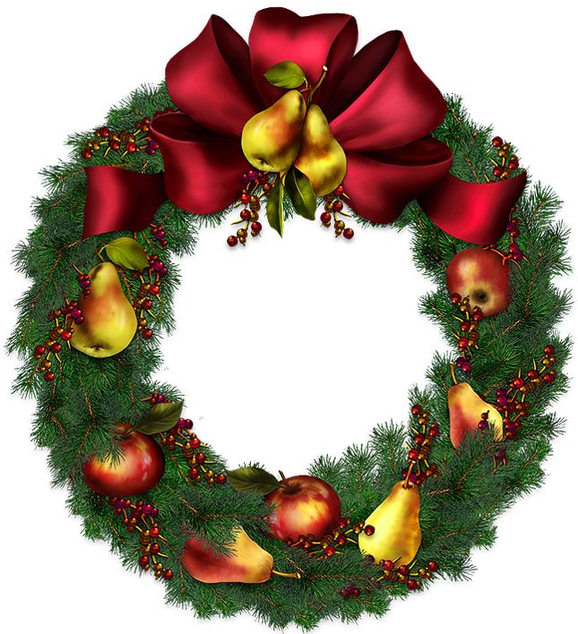 Christmas Wreath PNG Transparent