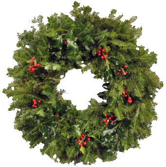 Download And Use Christmas Wreath Png Clipart image #39786