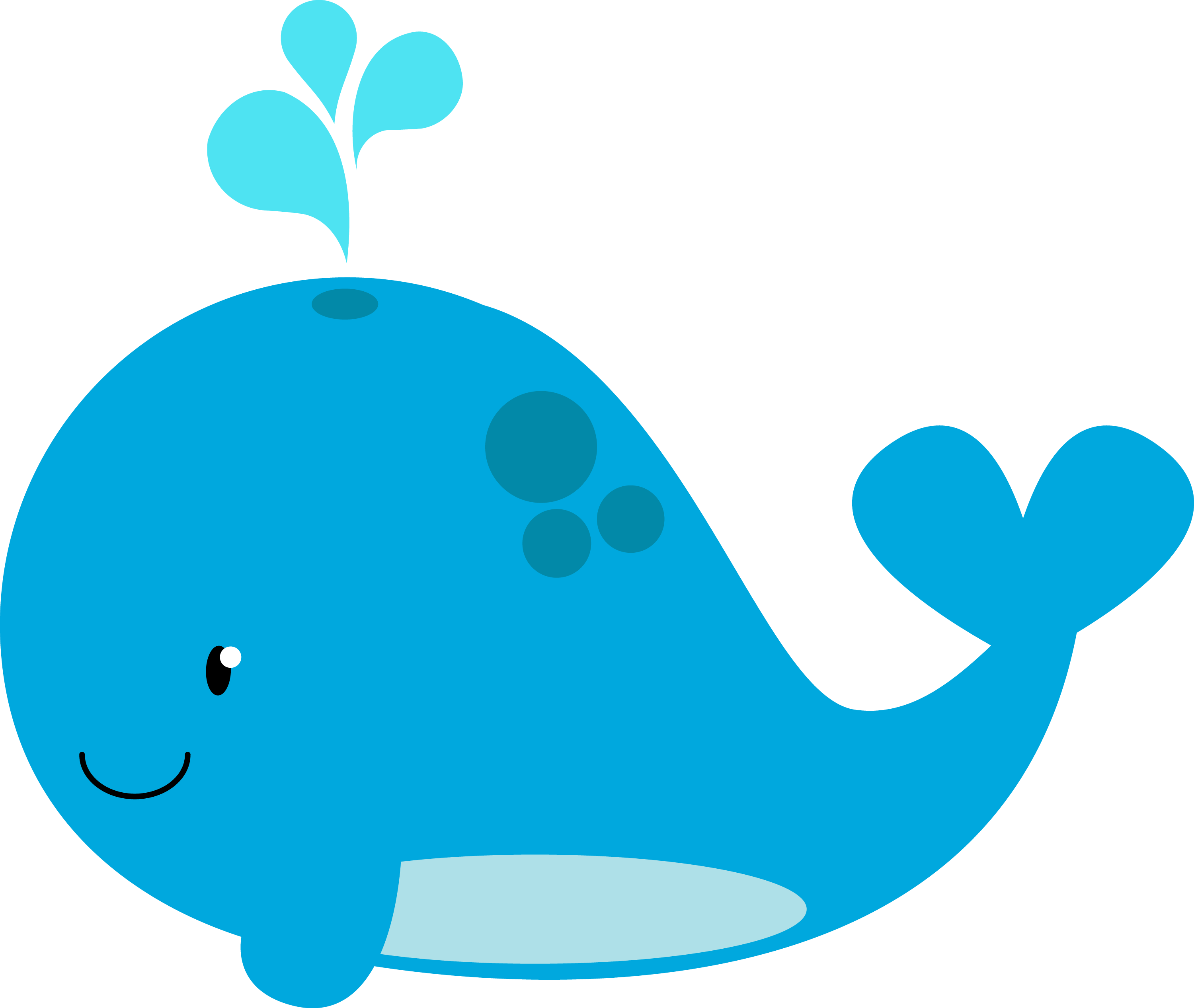 Chubby Blue Whale Symbol Image image #47806