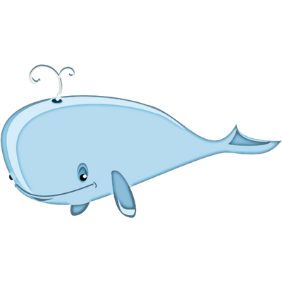 Chubby Line Character Whale PNG Pictures