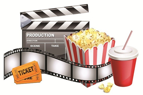 Cinema, Popcorn, Ticket, Movie, Theatre Png image #35902