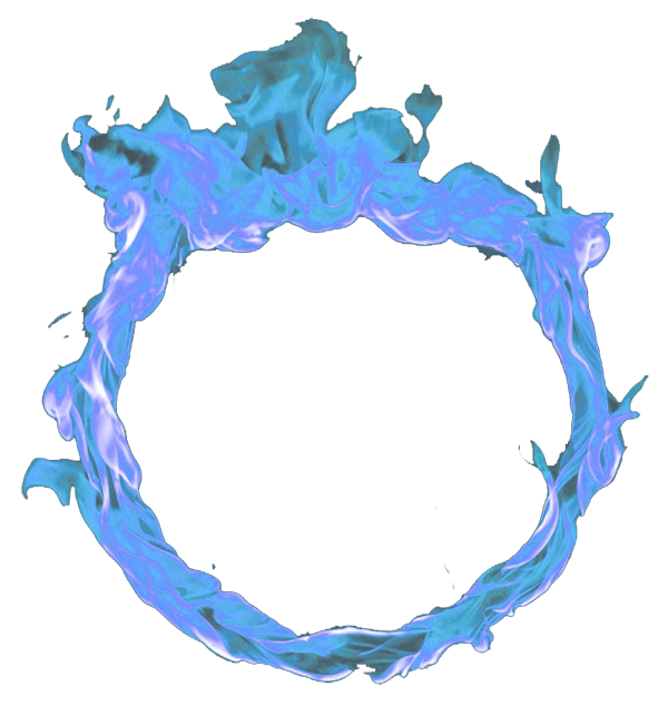 Circle Blue Fire Png