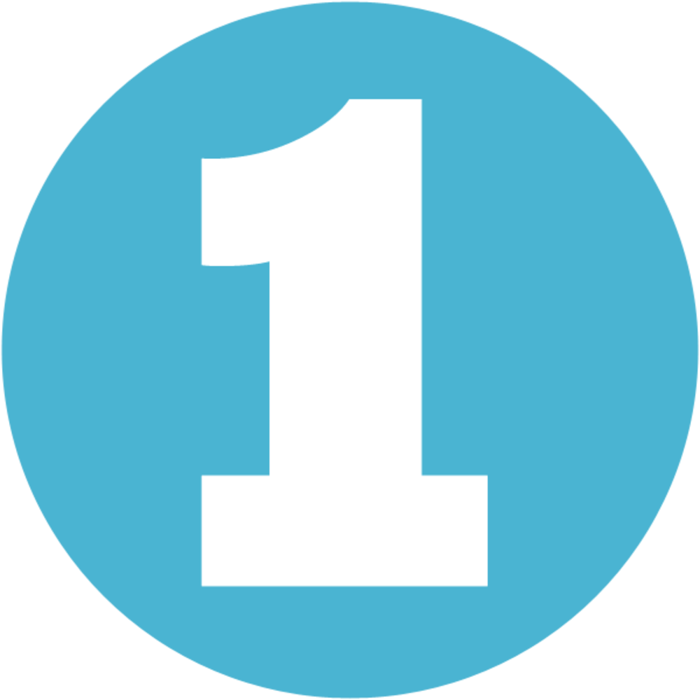 Circle blue Number 1 PNG ?