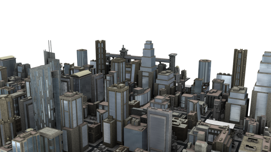 City Blocks PNG image #3524