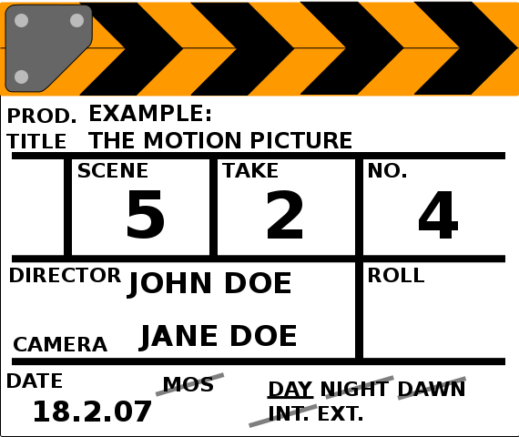 Clapperboard Png image #30959