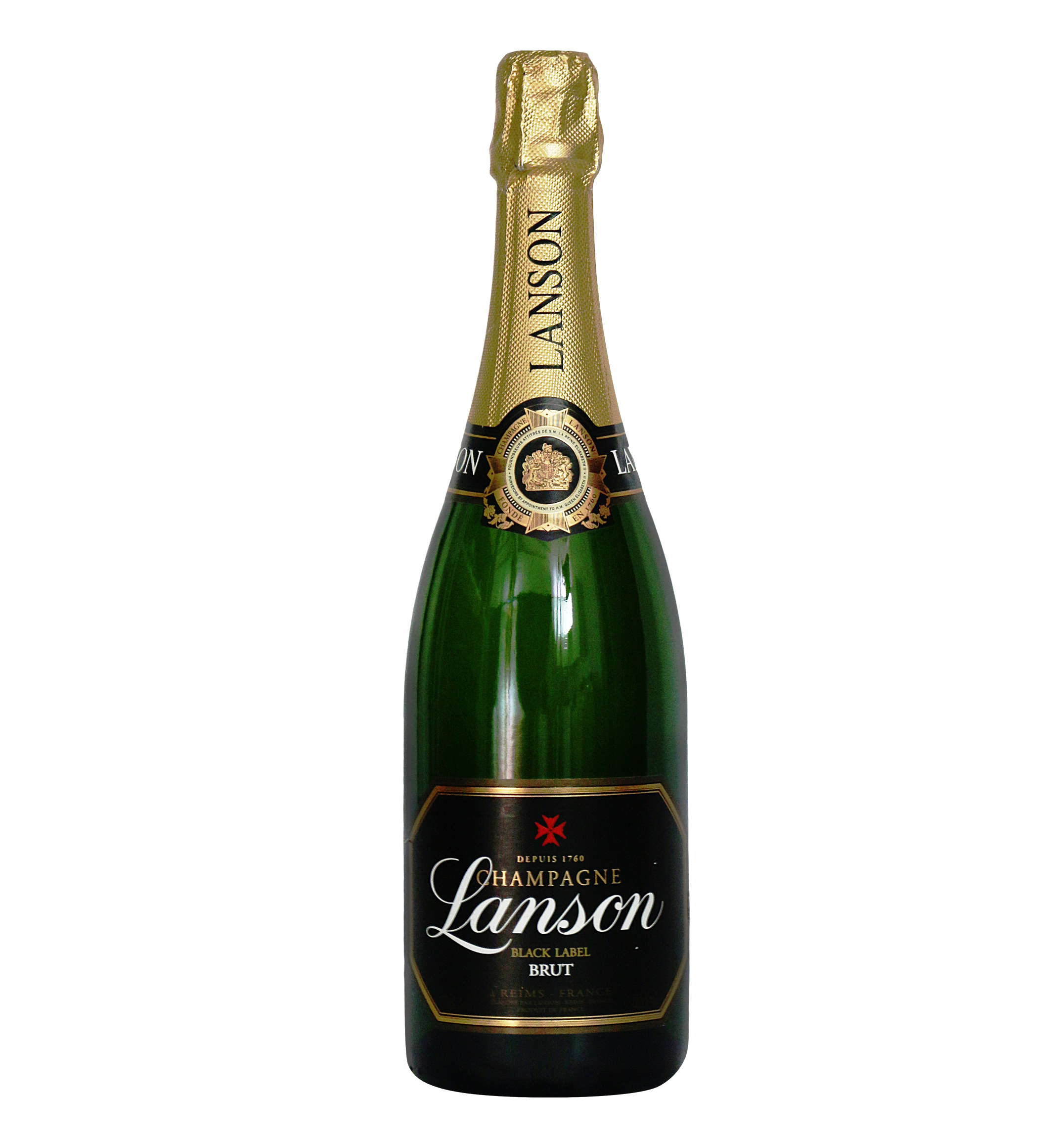 cleaned alcohol the bottle of Lanson brand background image