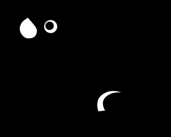 clip art animal silhouette