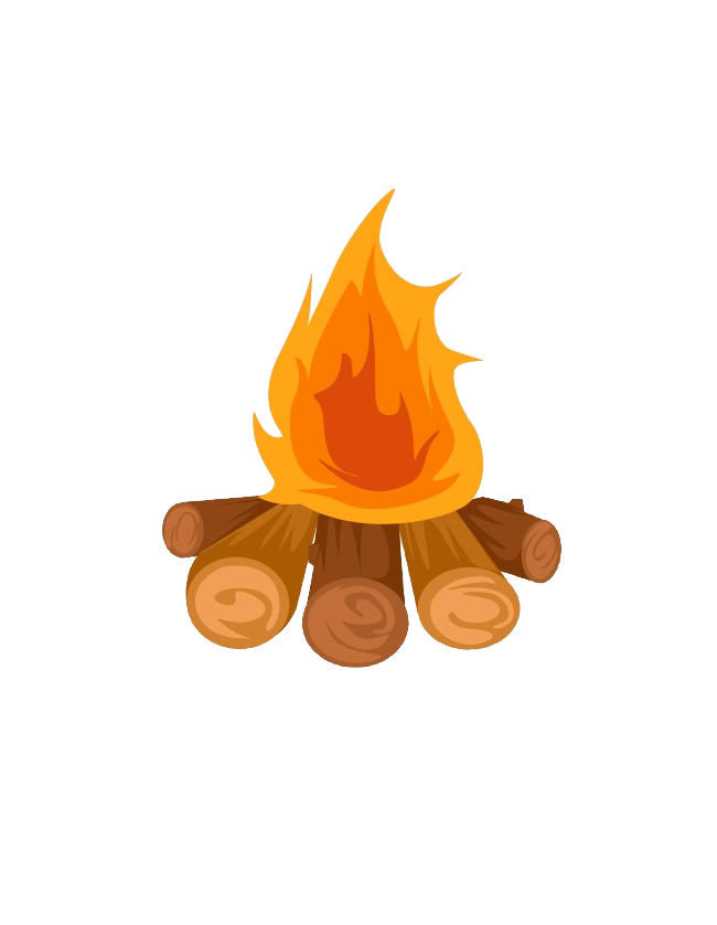 Clip Art Campfire Bonfire Illustration Party Fire image #47557