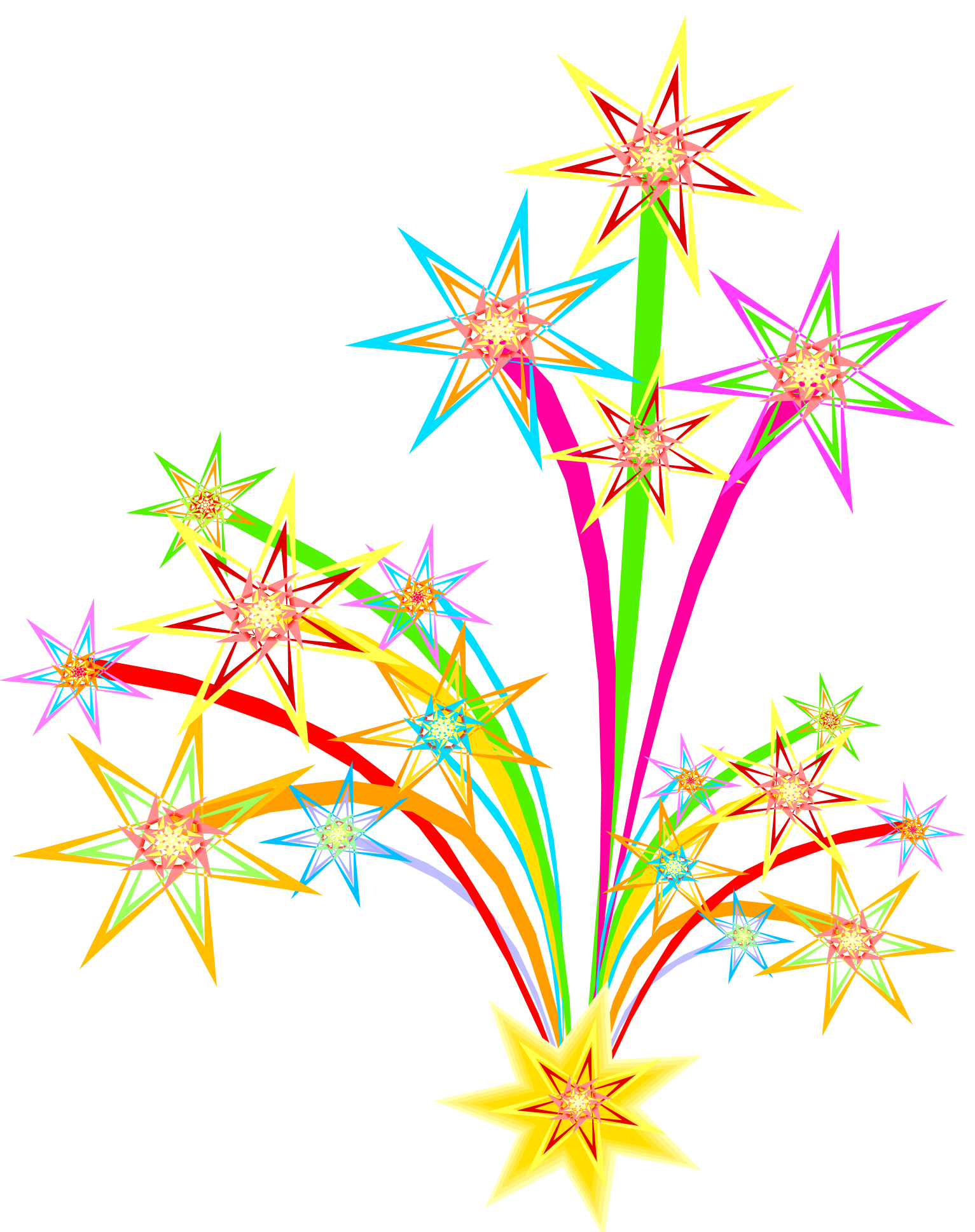 Clip Art Fireworks Independence Day Party image #47554