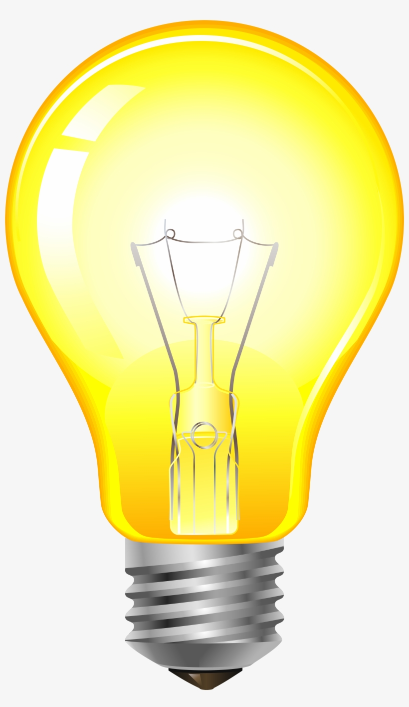 Clip Art Yellow Light Bulb Png