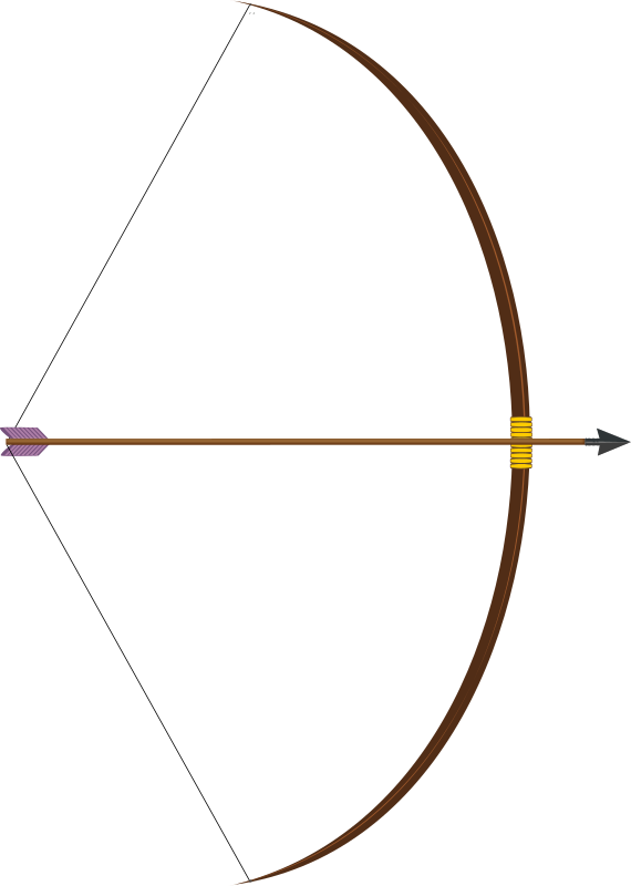 Clipart bow with arrow