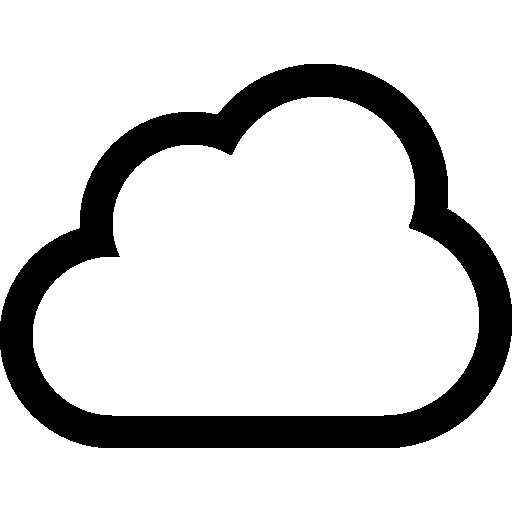 Cloud Outline Icon, Transparent Cloud Outline.PNG Images ...