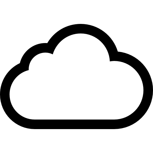 Cloud Outline Icon Transparent