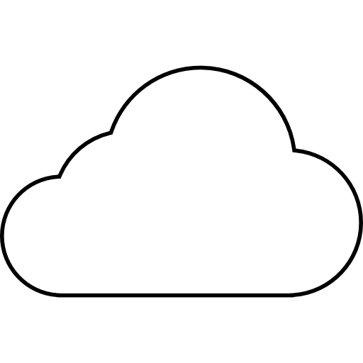 Cloud Outline Library Icon image #22300